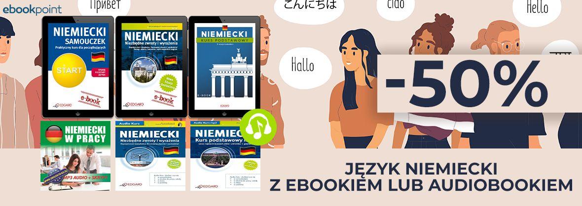 Promocja na ebooki Język niemiecki z ebookiem lub audiobookiem! [-50%]